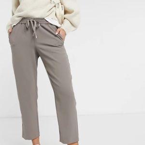 Drawstring silky pants